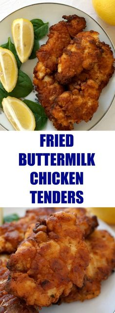 Fried Buttermilk Chicken Tenders, so juicy on the inside and cripsy on the ouside. Better than any take away, this recipe is super easy to make. Chicken Tender Recipes, Fried Chicken Recipes, Chicken Recepies, Chicken Meals, Buttermilk Fried Chicken Tenders, Chicken Batter, Feel Good Food, Yum Yum Chicken, Carne