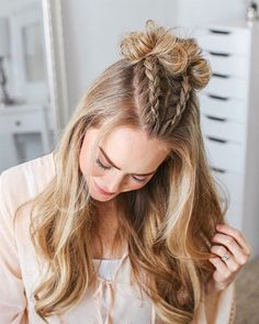 Best Free of Charge 10 Ridiculously Easy Hairstyles For School 2019 (Tutorials Included) Ide. - Best Free of Charge 10 Ridiculously Easy Hairstyles For School 2019 (Tutorials Included) Ideas Ea - Cute Hairstyles For School, Cute Hairstyles For Medium Hair, Cute Simple Hairstyles, Medium Hair Styles, Curly Hair Styles, Easy Teen Hairstyles, Easy Hairstyles For Medium Hair For School, Hair Ideas For School, Hair Medium