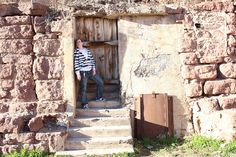 In a doorway of ghost town Jerome, AZ in late January 2012.