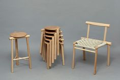 Rodular Stool designed by James Shaw