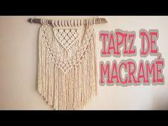 Tapiz de MACRAMÉ paso a paso, Tutorial de macrame facil en español, tejido de pared estilo boho - YouTube Origami, Macrame Patterns, Crochet Patterns, Estilo Boho, Macrame Wall Hanging Diy, Boho Stil, Crochet Cushions, Macrame Design, Macrame Tutorial