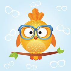 Owl by Juliana Bryk, via Behance