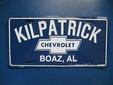 Vintage Kilpatrick Chevrolet Boaz Al License Plate License