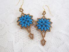 Blue Neon Earrings-Bright Earrings-Beach Earrings-Summer Earrings-Trendy Earrings-Neon Earrings-Bright Earrings Beaded-Gift For Her by KBelewCreations on Etsy