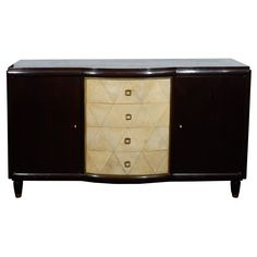 fine art deco stained oak and parchment cabinet from a unique collection of antique and