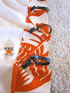 Alison @House of Hepworths is genius. How to make your own curtain rods and pinch pleat drapes with claw curtain rings!