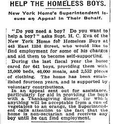 APPEAL: New York Times, November 25, 1912