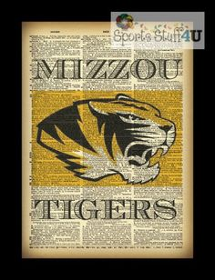 Missouri Tigers Dictionary Page photography print by sportsstuff4u, $18.00