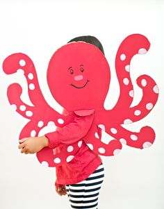 hello, Wonderful - EASY OCTOPUS CARDBOARD COSTUME FOR KIDS