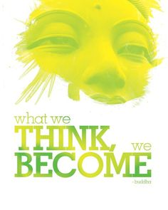 What we think we become / Buddha quote 8x10 Art door sunnychampagne