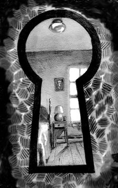 keyhole art | through the keyhole by deingeist traditional art drawings surreal 2005