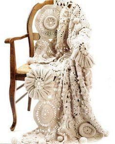 BY MIRIART: Manta em crochê Irlandês. Maravilhosa!!!