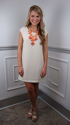 Classic ivory.... sophisticated, yet full of style. $64