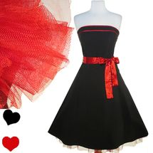 Retro Ruby Rox Black Red Tulle Dress M
