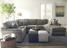 Sectional grey couch -- love the color and shape of this.