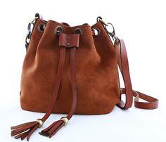 BROWN ROLLER BAG by KONOC