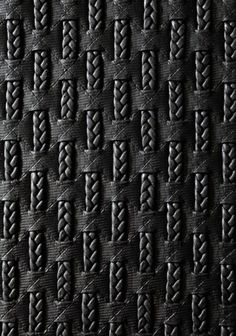 Fabric manipulation and textile design - Braided faux black leather