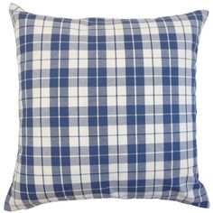 Liven up your living room seating group or transform the look of basic bedding with this cotton pillow, showcasing a plaid print.  P...
