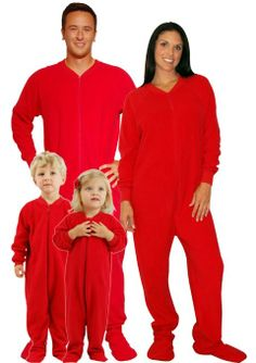 Amazon.com  Red Footed Family Matching Fleece Pajamas by SleeptimePjs  (Kids-10-12)  Clothing 4279a2f06
