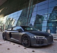 #Automotive: Full blacked out Audi R8 looking great  by @auditography