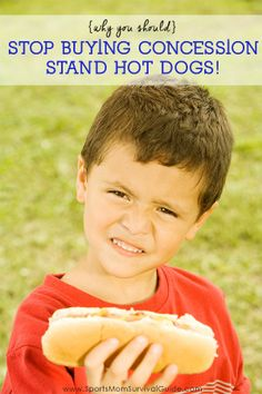 Going broke at the concession stand? Here's why you should Stop Buying Concession Stand Hot Dogs! Weight Watchers Breakfast, Skinny Mom, Kids Health, Children Health, Sports Mom, Kids Corner, Healthy Kids, Healthy Living, Food Hacks
