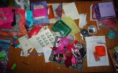 Droge werktafel 14 maart 2013, spullen voor een fabric book