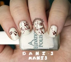 Marauder's map nail art - might be a nice subtle touch to a certain Harry Potter wedding