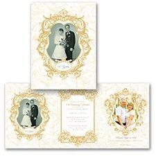 K--Ornate Elegance Photo Storyline - Anniversary Invitation 50th Anniversary Invitations, Wedding Anniversary Photos, Golden Anniversary, Anniversary Parties, Anniversary Cards, Photo Invitations, Swirl Design, Celebrations, Weddings