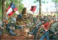 "Lt. Colonel John Upton's brutal attack on the 5th and 10th New York Zouaves at Second Manassas also known as Bull Run, August 30, 1862. There are 2 flags in the scene, the regimental lone star 5th Texas and in the background the Confederate battle flag of Northern Virginia.   Image Size  24 x 31"" Condition  mint.  Limited edition of 500"