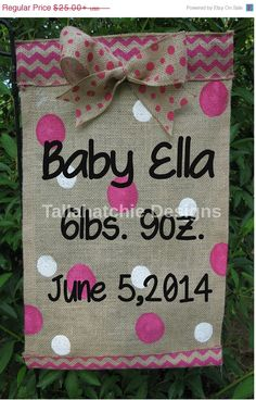 20 OFF SALE Baby Garden Flag Burlap Garden by TallahatchieDesigns, $20.00