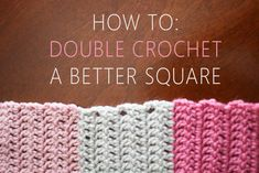 How to clean up edges of double crochet squares or rectangles, also includes a simple afghan pattern ★•★•Teresa Restegui http://www.pinterest.com/teretegui/★•★•