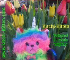 Rainbow Butterfly, Rainbow Unicorn, Kitten, Teddy Bear, Create, Animals, Fictional Characters, Design, Art