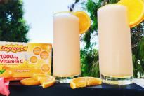 This delicious Tangerine Creamsicle Vitamin C smoothie is packed with vitamins, protein & electrolytes and a creamy, cool treat for the summer!