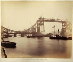 Never before seen photographs of the construction of Tower Bridge being constructed have been unveiled after a stash of hundred-year-old photos were found in a skip. Vintage London, Old London, Victorian London, London History, British History, Bridge Construction, Tower Bridge London, London Photos, London Pictures