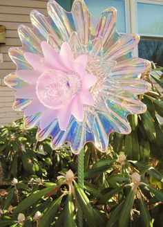 glass art flower garden gift glass plate flower by