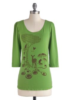 Woodsy Welcome Tee by Blue Platypus, made in the USA! #ModCloth #StylishSurprise