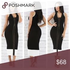 The Brenda Dress only $54 on website Please visit our website at www.DeBonairBoutiqueShop.com for lower rates because posh mark fee is included in all items listed on here! Also follow us on Instagram @DeBonair_Boutique Dresses Midi