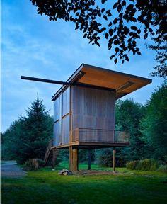 Built on Stilts: Tom Kundig's Sol Duc Cabin : TreeHugger