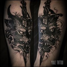 Wolf and dagger. #yuuztattoo