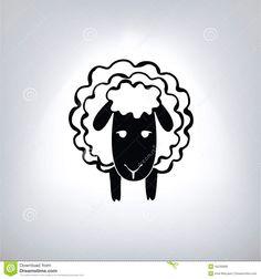 zwart-silhouet-van-schapen-45230808.jpg (1300×1390)