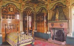 Metal beds do work with lots if chunky wood! Must have a bedroom fireplace someday. Google Image Result for http://tesselar.net/blogs/davisfreud/archives/Cardiff%2520Castle%2520Bute%2520BR.jpg