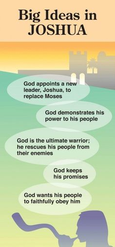 Old Testament: Book 6 - Book in the Bible - Big Ideas in Joshua Bible Study Tips, Scripture Study, Bible Lessons, Bible Guide, Bible Notes, Bible Scriptures, Bible Book, Job Bible, Beautiful Words