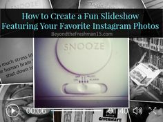 How to create a fun slideshow with #photos from #Instagram #socialmedia