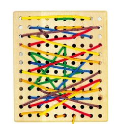 Threading Board Childrens Toy Game Sewing