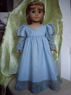 American Girl doll Renaissance gown by ExquisitelyUpcycled on Etsy, $40.00