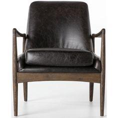 Braden Leather Chair, Durango Smoke – High Fashion Home