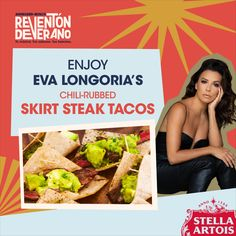 Get everything you need on Instacart to recreate Eva Longoria's delicious taco & guacamole recipe! Shop now to savor together during #ABReventonDeVerano.