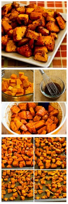 Easy but oh so amazing Spicy Roasted Butternut Squash with Smoked Paprika. This is the kind of side dish you'll want to make over and over. [from KalynsKitchen.com]