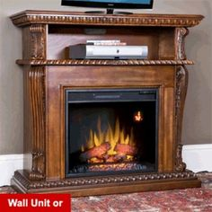 One idea for an electric fireplace!  I like it!