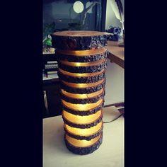 Wood Slice Lamp #lighting #woodworking